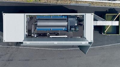 Flottweg Container Systems - Mobile sludge dewatering by Flottweg