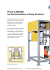 KAHL - Model O-500/390 - Press  for the Granulation of Pasty Products - Brochure