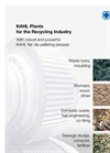 KAHL Plants for the Recycling Industry - Brochure