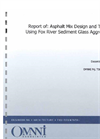 OMNNI Fox River Sediment — Asphalt Mix Design and Testing Report