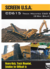 SCREEN USA - Model CD615 - For Loader Buckets Between 5 And 8 Cubic Yards Brochure