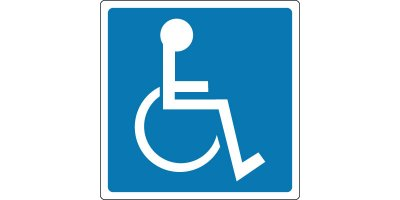 Model 12 x 12 - Parking and Traffic Control Sign - Handicapped Symbol