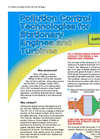 Pollution Control Technologies for Stationary Engines and Turbines - Brochure