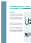 Model VNX 50 - Industrial Continuous Electro Deionization Unit Brochure