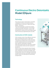 Model EDI Pure - Continuous Electro Deionization Unit Brochure