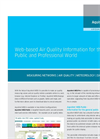 AquisNet - Air Quality Information System and Network –Web Module – Brochure