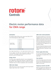 CMA Electric Motor Performance Technical Data