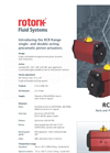 Rotork - Model CP Range - Compact Pneumatic Actuators for Quarter-Turn Valves - Brochure