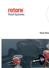 Rotork - Model Twin Power Range - Pneumatic and Hydraulic Actuators for Multi-Turn Applications - Brochure