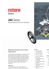 Rotork - Model 242 Series - Manual Quarter-Turn Gear Operators - Brochure