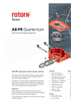 Rotork - AB-PR Quarter-Turn - Cast Iron Housing Gearboxes - Brochure
