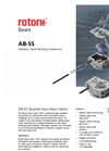 Rotork - Model AB-SS - Stainless Steel Housing Gearboxes - Brochure