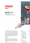 Rotork - Model ILG-D Series - Cast Iron Housing Declutchable Gear Operators - Brochure