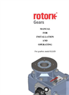 Rotork - Model ILG-D Range - Cast Iron Housing Declutchable Gear Operators - Manual