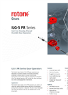Rotork - ILG-S PR Series - Cast Iron Housing Manual Override Gear Operators - Brochure