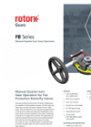 Rotork - Model FB Series - Manual Quarter-Turn Gear Operators - Brochure