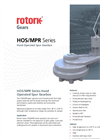 HOS/MPR Series - Hand Operated Spur Gearbox - Brochure