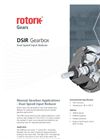 Rotork - Model DSIR Range - Dual Speed Input Reducer Gearbox - Brochure