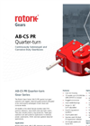 Rotork - Model AB-CS - Quarter Turn Continuously Submerged Gears Brochure