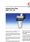 AGF - PV - 30 - Sample Gas Filter Datasheet