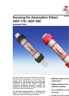 Bühler - Model ADF-170 / ADF-300 - Housing for Absorption Filters (Ammonia Filter) – Datasheet