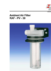 Bühler - Model RAF - PV-30 - Ambient Air Filter – Datasheet