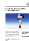 Bühler K-AGF-PV-30-A Sample Gas Coalescing Filter - Datasheet