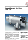 Bühler - Model AHF-22 - Heated Sample Gas Filter – Datasheet