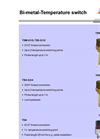 TSM-G1–2, TSE-G1–2 - Bi-Metal Temperature Switches – Brochure