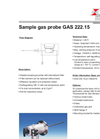 Bühler GAS 222.15 Sample Gas Probe - Datasheet
