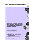 Bühler MDS Mechanical Pressure Switch - Datasheet