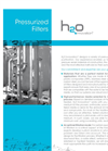 Pressure Filters For Water Purification Technical Sheet