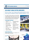 Uni-Shear - Model SR300 - Single Rotor Shredder/Grinder Brochure