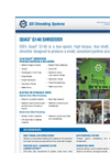 SSI Quad - Model Q140 - Four Shaft Waste Rotary Shear Shredder Brochure