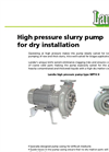 High Pressure Slurry Pump For Dry Installation MPTK Brochure
