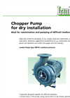 Medium-High Pressure Chopper Pump For Dry Installation MPTK-I Brochure