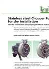 Medium Pressure Stainless Steel Chopper Pump For Dry Installation MPTKR-I Brochure