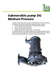 Medium Pressure Submersible Pump For Slurry DG Brochure
