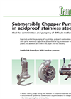 Medium/High Pressure Submersible Chopper Pump DGR-I Brochure