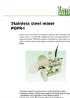 Submersible Stainless Steel Mixer (150/300 RPM) POPR-I Brochure