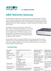 Adcon - Model A850 - Telemetry Gateway Base Station - Technical Datasheet