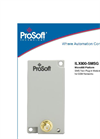ProSoft - Micro800 SMS - Plug-in Module for OEM`s and Machine Builders Manual