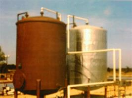 Treatment of industrial wastewater with high oil content
