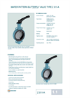 Z 011-A - Wafer Type Butterfly Valve – Datasheet