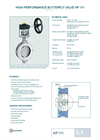 Model HP 111 - High Performance Butterfly Valve - Datasheet