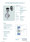 HP 111 - Wafer Type Butterfly Valve – Datasheet