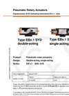 Series EB x.1 SYD,  SYS - Pneumatic Rotary Actuators - Manual