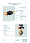 EB-SYS, Single-Acting - Pneumatic Actuator – Datasheet