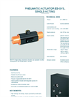 Model EB-SYS - Single-Acting - Pneumatic Actuator  - Datasheet
