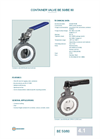 BE 50–BE 80 Container Valve – Datasheet